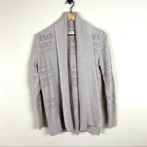 Light grey open front cardigan by Sonoma Women's M